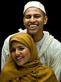 Islamic Traditions:  Muslim couple