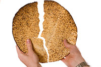 Jewish Holidays:  Seder unleavened bread