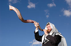 Jewish Holidays:  Blowing the shofar