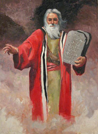 Early Views of God:  Moses and ten commandments: Religions
