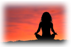 New Age Religions:  Yoga at sunset